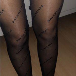Balenciaga Logo Tights/Stockings